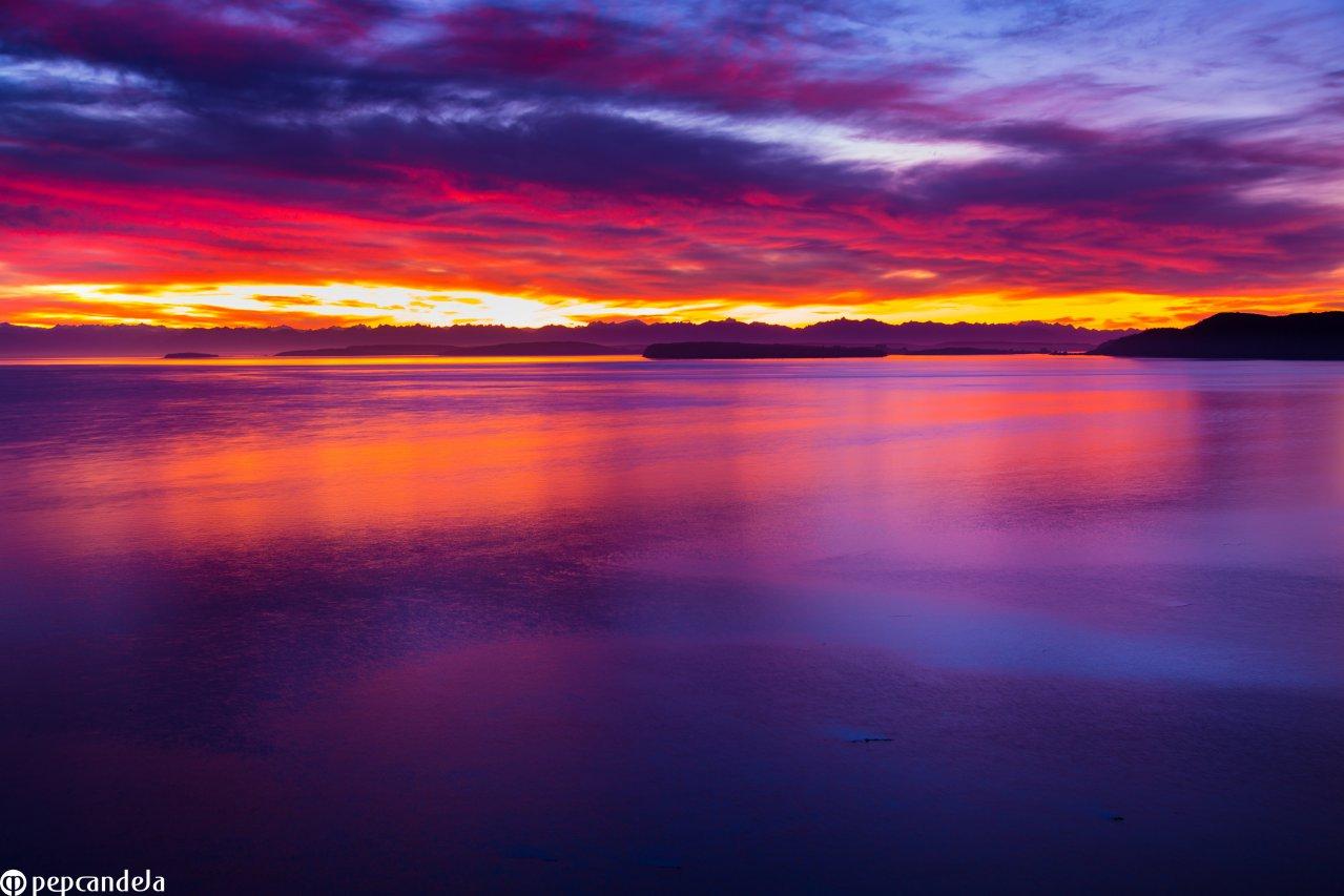 Salida de sol en Quicaví, Chiloé