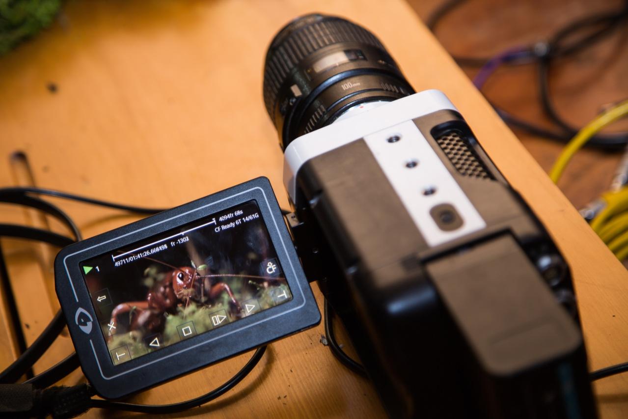 La cámara de alta velocidad